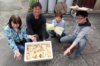 伊豆でタケノコ掘り,雨予報も晴れに!