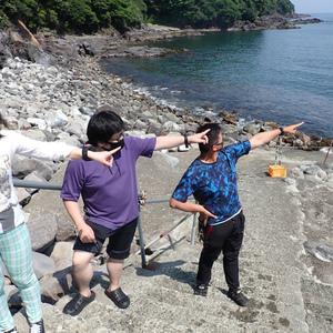 福浦でアオリイカの産卵ダイビング!ウエットスーツも製作