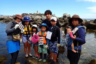台風リベンジ!磯遊び教室とシュノーケリング教室